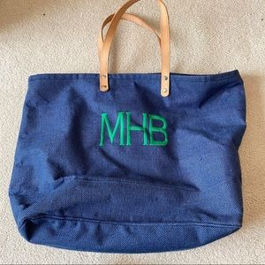 Monogrammed Ballard Designs Beach Bag
